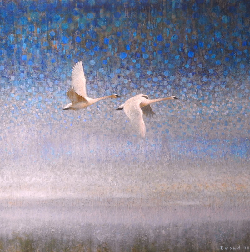 Ewoud-painting-flying-swans