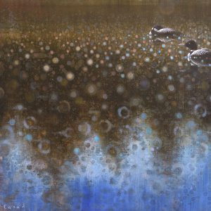Ewoud-de-Groot-wildlife-art-artist-animals-birds-oil-painting-canvas-exhibition-Loons