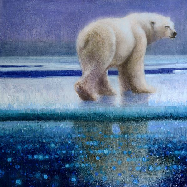 Ewoud-de-Groot-wildlife-art-artist-animals-birds-oil-painting-canvas-exhibition-polar-bear