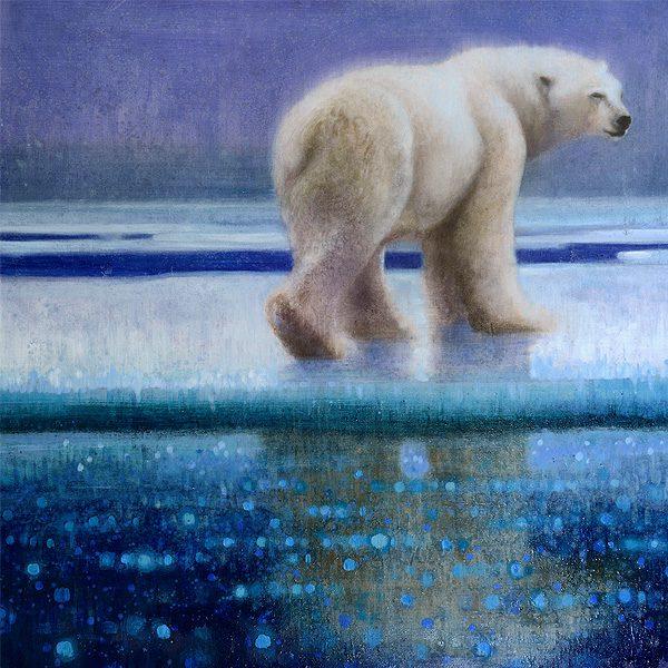 Ewoud-de-Groot-wildlife-art-artist-animals-birds-oil-painting-canvas-exhibition-polar-bear