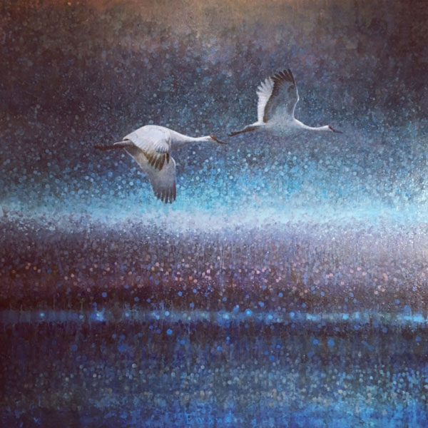Ewoud-de-Groot-wildlife-art-artist-animals-birds-oil-painting-canvas-linen-Sandhills