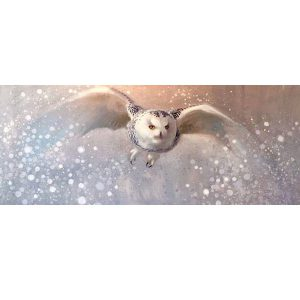 ewoud-de-groot-wildlife-art-artist-animals-birds-oil-painting-linen-snow-hunter-snowy-owl
