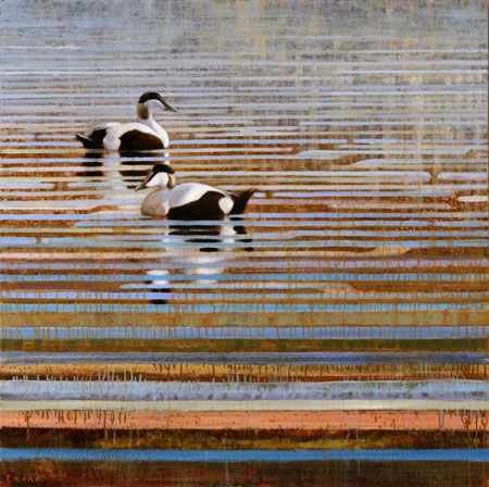 ewoud-de-groot-eider-reflections-painting-oil-on-linen