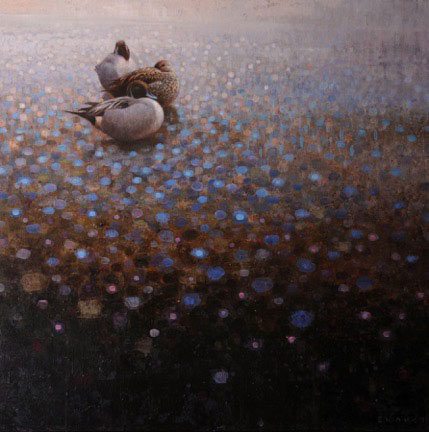 ewoud-de-groot-resting-pintails-painting-oil-on-linen