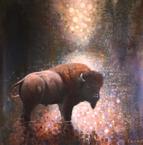 ewoud-de-groot-wildlife-crossing-bison-160x160-cm-oil-on-linen-2015