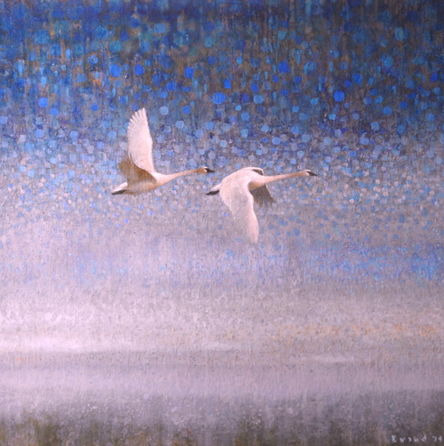 ewoud-de-groot-wildlife-swans-110x110-cm-oil-on-linen-2014