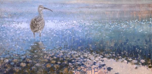 Ewoud-de-Groot-wildlife-art-artist-animals-birds-oil-painting-canvas-linen-whimbrel